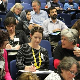 Symposium participants tossing over similarities and differences,