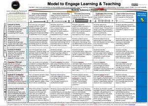 Model for Engaged Learning and Teaching